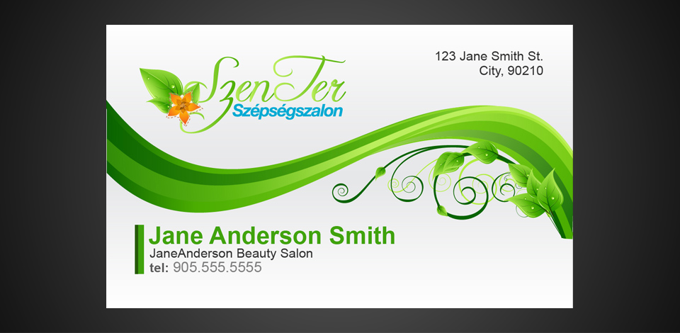 Beauty salon business card july 26 2012 business cards business card