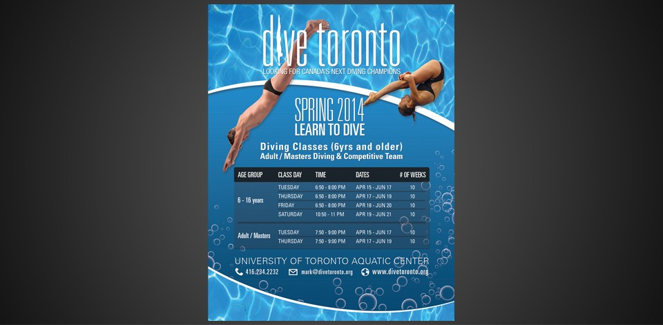 Flyer Design For Diving Courses In Toronto Flyerdesign Ca