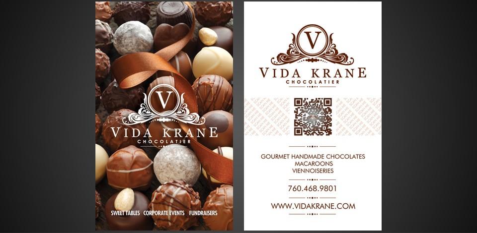 Chocolatier Business Card Design Flyerdesign Ca